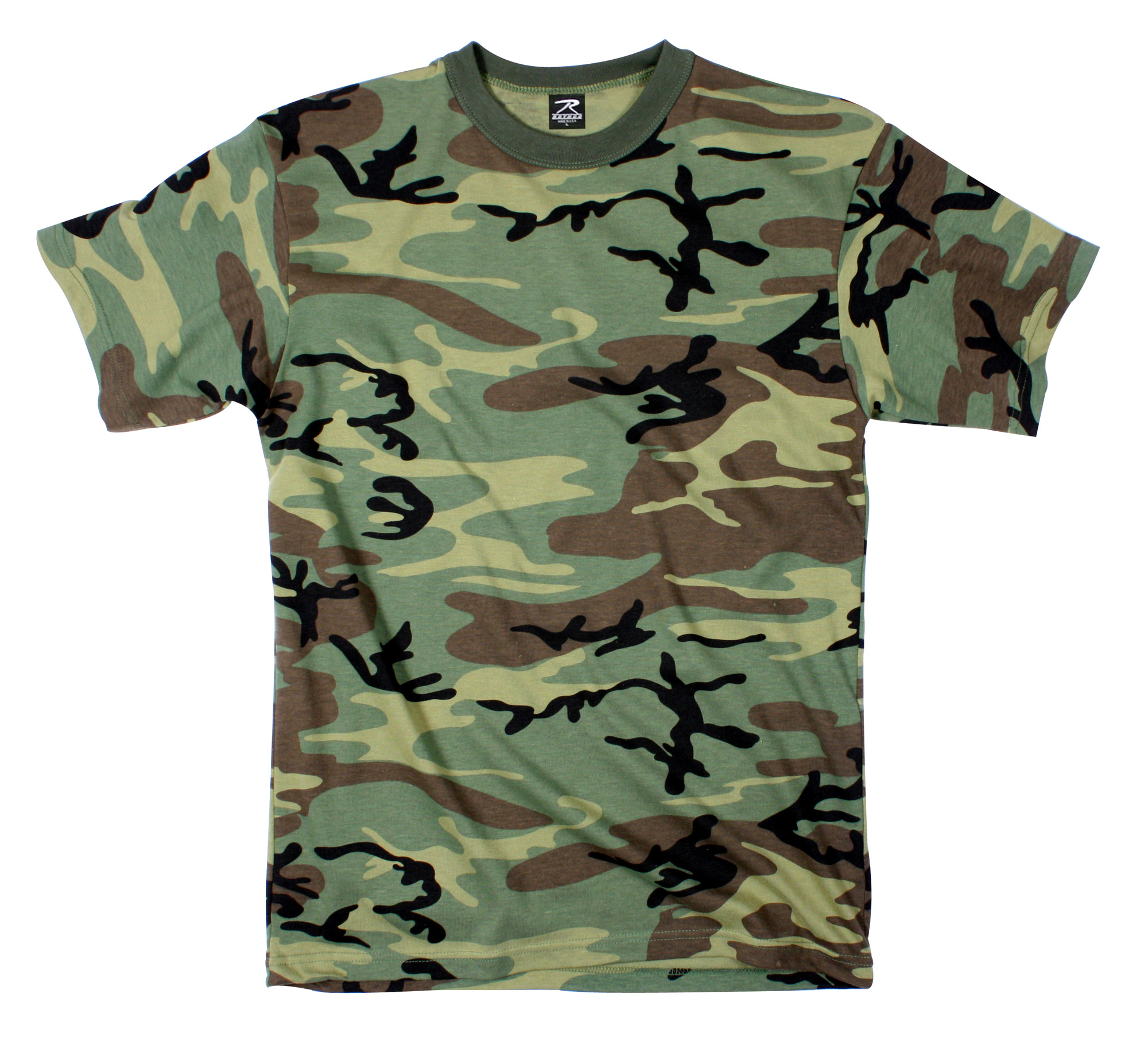 rothco t shirt woodland camo 7x all pro outfittersall pro. Black Bedroom Furniture Sets. Home Design Ideas