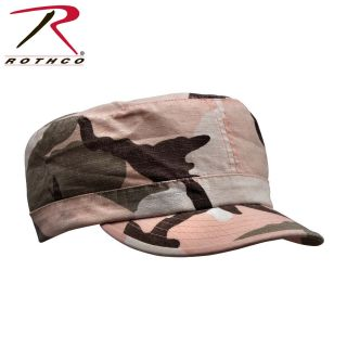 ROTHCO WOMEN ADJUSTABLE VINTAGE FATIGUE CAP R S - SUBDUED PINK CAMO 6694029916c3